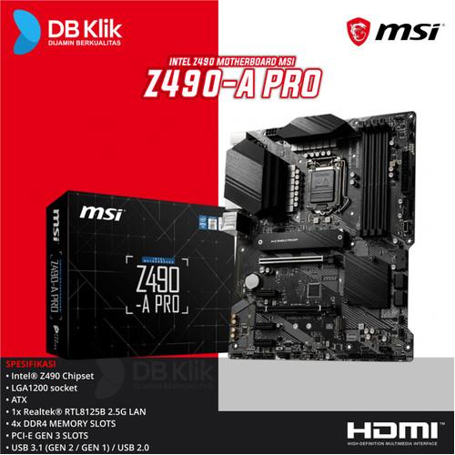 Foto Produk Motherboard MSI Z490A PRO - MB MSI Z490 A Pro dari dbclick
