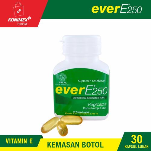 Foto Produk everE250 Vitamin E Botol Isi 30 Softcapsule Rumput Laut Kulit Sehat dari Konimex Store