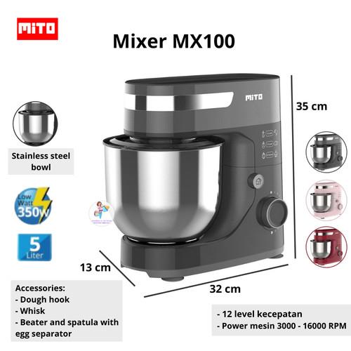 Foto Produk Mixer Mito MX100 Standing Stand Com MX100 Kapasitas Jumbo 5 Liter - Hitam dari KimberlyOnShop