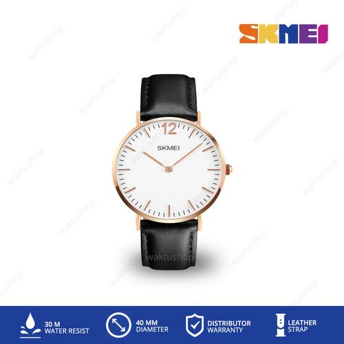 Foto Produk Jam Tangan SKMEI 1181 Kulit Leather Original - Hitam dari Waktu.Shop