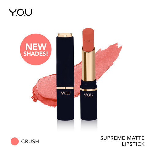 Foto Produk You Supreme Matte Lipstick 3.2 g [Extra Soft Texture and Long-lasting - 10 Crush dari YOU Makeups Official