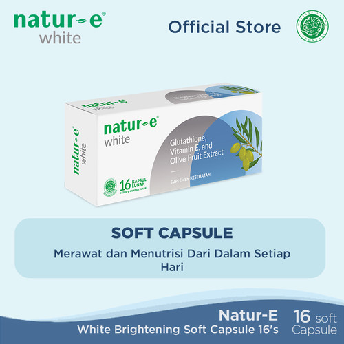 Foto Produk Natur-E White Brightening Soft Capsule 16 tabs dari Natur-E Official Store