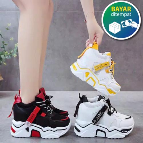 Foto Produk Sepatu Wanita Korea Sneakers Jintu Putih Kuning - Kuning, 37 dari ARFAKIDS SHOP