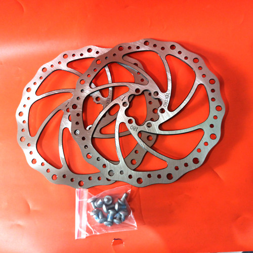 Foto Produk Disc Piringan Cakram Rem Sepeda Rotor Tektro 180mm 7 Inch dari Kandang'z MTB