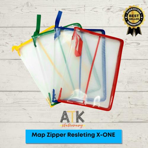Foto Produk Map Plastik Resleting Zipper Bag X-One atk - Biru dari Atkstationary