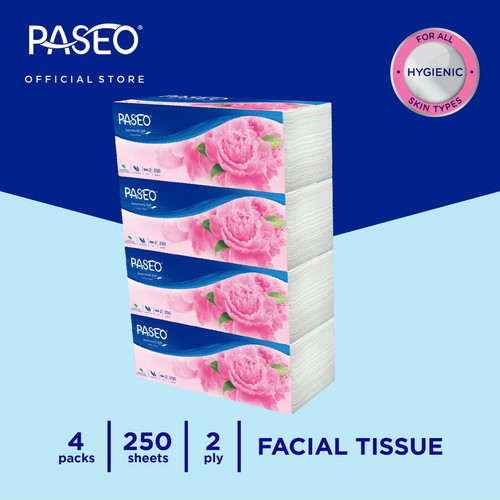 Foto Produk Paseo Elegant Tissue Wajah Soft Pack 250 Sheets x 4 Packs dari sale murah penpen