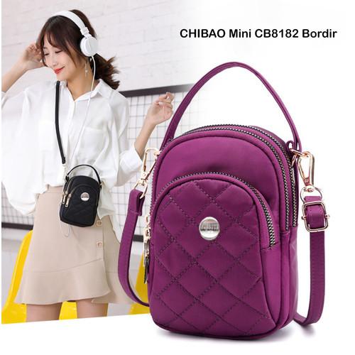 Foto Produk TCH06 Tas Wanita Original CHIBAO Mini CB8182 Bordir Import Jinjing - black dari EnnWen Online Store