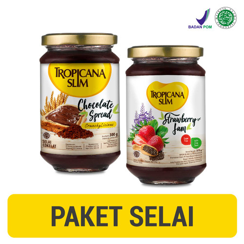 Foto Produk Tropicana Slim Chocolate Spread 300gr + Strawberry Jam 375gr dari NutriMart