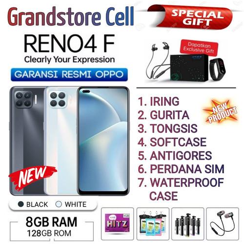 Foto Produk OPPO RENO 4F RAM 8/128 GB GARANSI RESMI OPPO INDONESIA - Hitam Bonus 7 dari Grandstore cell