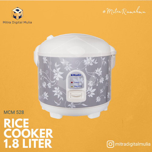Foto Produk Miyako MCM 528 Silver Magic Com Rice Cooker [ 1.8 Liter] dari Mitra Digital Mulia