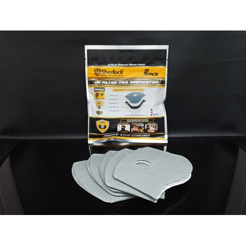 Foto Produk Filter isi ulang Sherlock N95 Masker Sport Olahraga ( 5 PCS / pack) dari SHERLOCK TOOLS