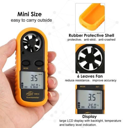 Foto Produk Digital Anemometer with Thermometer Alat Ukur Kecepatan Angin dan Suhu dari Toko JayaSukses
