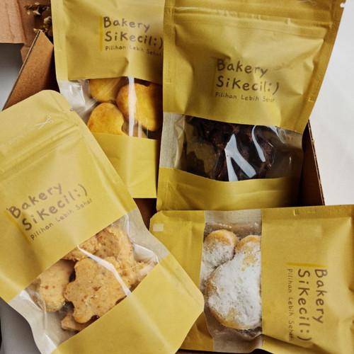 Foto Produk Paket Hemat Bakery Si Kecil 4 in 1 Nastar Putri Salju Kacang Cokelat dari Bakerysikecil
