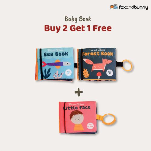 Foto Produk Buku Bayi | Beli 2 Gratis 1 | Baby Book by Fox and Bunny | 0-1 Tahun - Sea Book dari Fox and Bunny Official