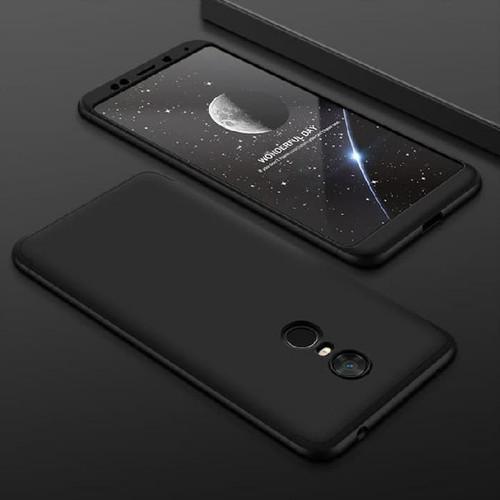 Foto Produk Xiaomi Redmi 5 Plus Armor 360 Full Cover Baby Skin Hard Case 1124 - Hitam dari Smart in case