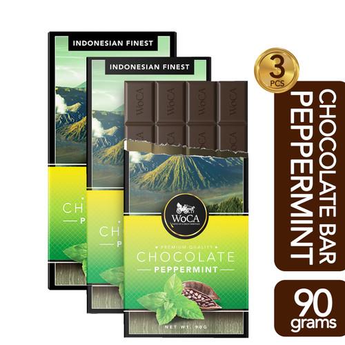Foto Produk WoCA Premium Chocolate 3 x 90g Bars - Cokelat Batang Rasa Mint dari Arutala Online Co.