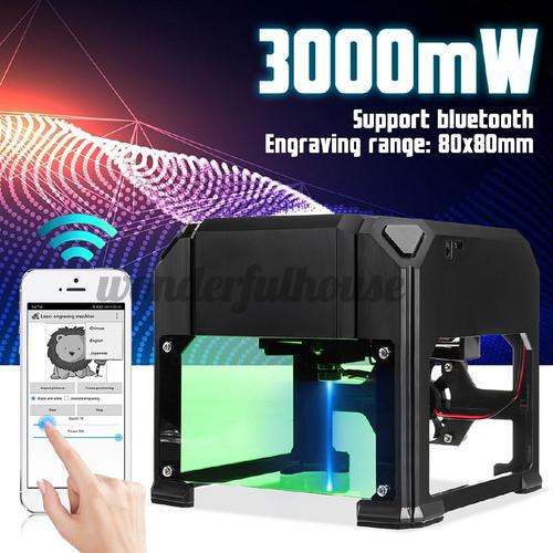 Foto Produk 3000mW USB Mini Desktop Laser Engraving Machine Marking Engraver - AU Plug dari Fixbeli