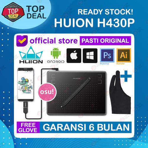 Foto Produk Huion H430P Graphic Drawing Tablet OSU Alternatif H420 H640P HS64 - Free Glove dari Top Deal