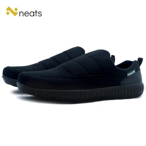 Foto Produk Sepatu Slip On Pria N-027 Original Neats Material Mesh Balack - 39 dari Neats Store