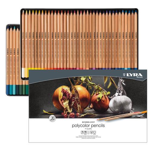 Foto Produk Pensil Warna Lyra Rembrandt 72 Polycolor Pencil Metal Box Set dari Artemedia Shop