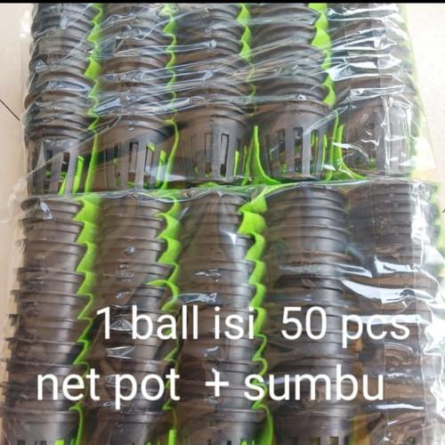 Foto Produk net pot 5cm hitam + sumbu (50pc) dari Original Milagros