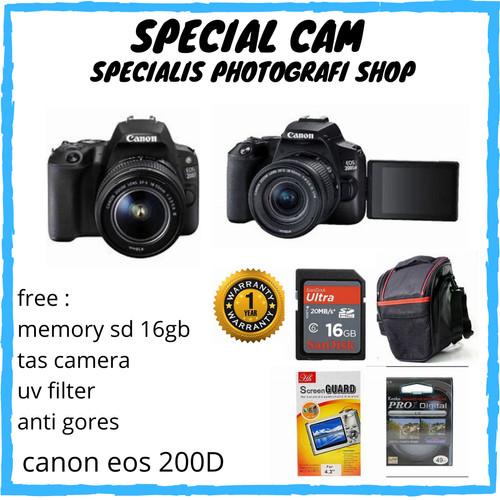 Foto Produk CAMERA CANON EOS 200D KIT 18-55MM / CANON EOS 200D KIT 18-55MM dari specialcam