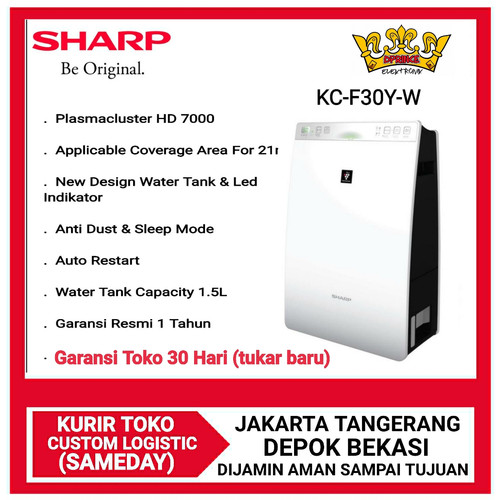 Foto Produk Sharp KC-F30Y-W Air Purifier with Humidifying Series - Putih dari DPRINCE