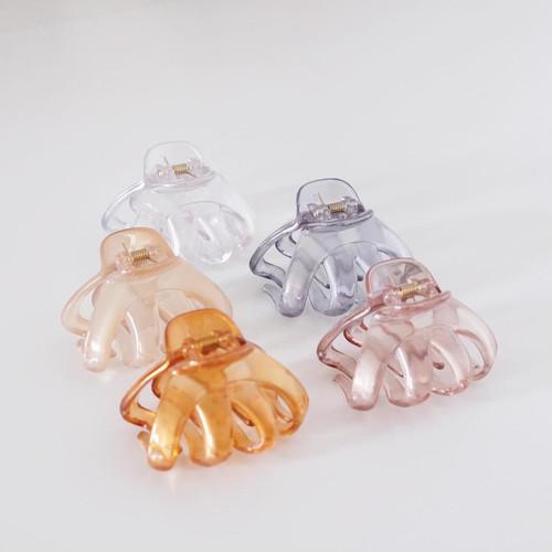 Foto Produk Clear Hobit Claw Clip - Jepit Rambut Jepit Cepol Polos KOREA ASLI dari Lily Metro Accessories