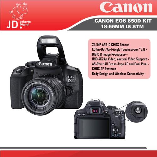 Foto Produk Canon EOS 850D Kit 18-55mm IS STM dari Jakarta Digital
