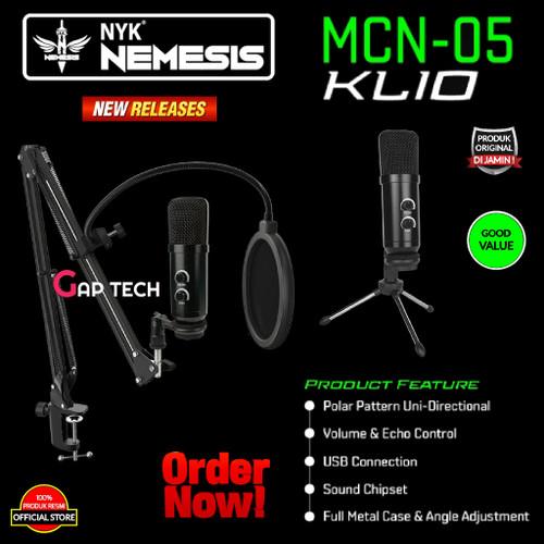 Foto Produk NYK NEMESIS MCN-05 KLIO Condenser Microphone Set Original dari GAP TECH OFFICIAL