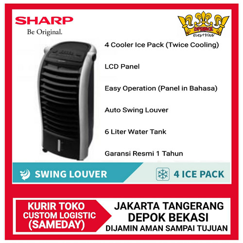 Foto Produk Sharp PJ-A26MY-B Air Cooler - Black *jABODETABEK* - NO BUBBLE WRAP dari DPRINCE