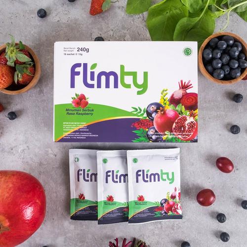 Foto Produk Flimty Fiber Detox | Rasa Blackcurrant/Raspberry 4 Box - Blackcurrant dari Klik Flimty