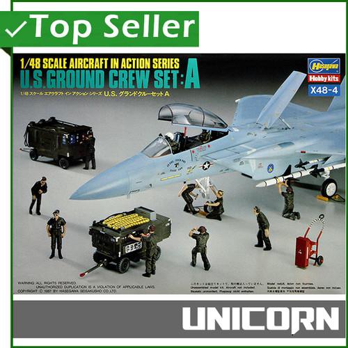 Foto Produk 1/48 US AIRCRAFT GROUND CREW SET A [HASEGAWA] dari Unicorn Toys