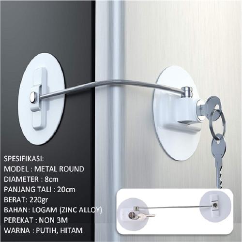 Foto Produk Kunci Pengaman Kulkas Refrigerator freezer#metal#logam#magnet#samsung - Metal Round dari recehpedia
