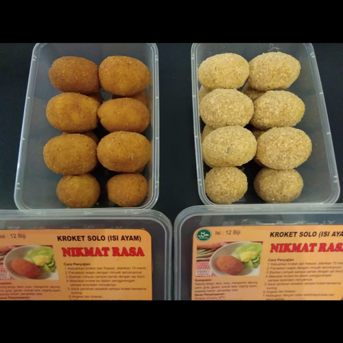 Foto Produk Kroket solo frozen (isi daging ayam) di lengakapi dgn saus mustard dari anekacemilan_sakinah