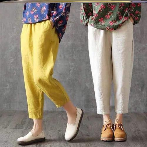 Foto Produk pants celana panjang jegging semi jeans wanita pakaian slim kurus sale - Merah dari Grosir Korean style