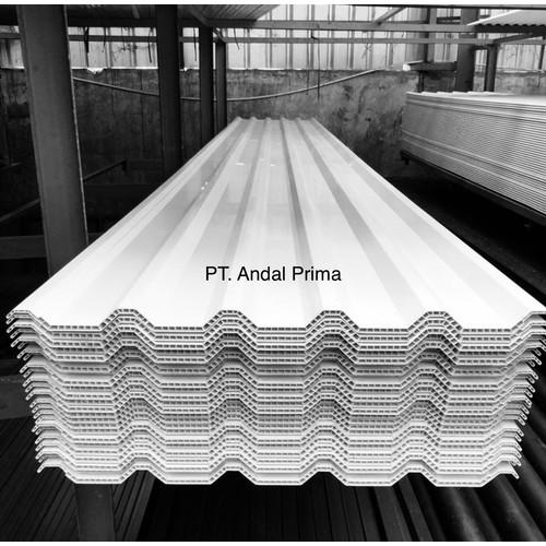 Foto Produk Atap Alderon Putih Doff 6.00 Meter - Alderon Twinwall Corrugated R830 dari Andal Prima