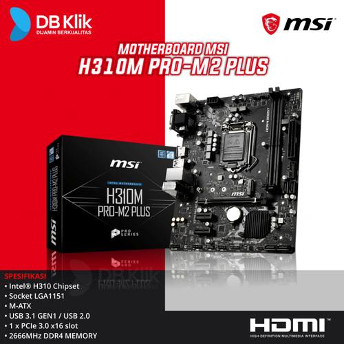 Foto Produk Motherboard MSI H310M PRO M2 PLUS - MB MSI H310 M Pro-M2+ dari dbclick