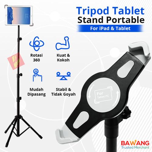 Foto Produk Portable Tripod iPad Tablet Rotary 360 Floor Stand Lantai Holder - Normal dari Ba-Wang