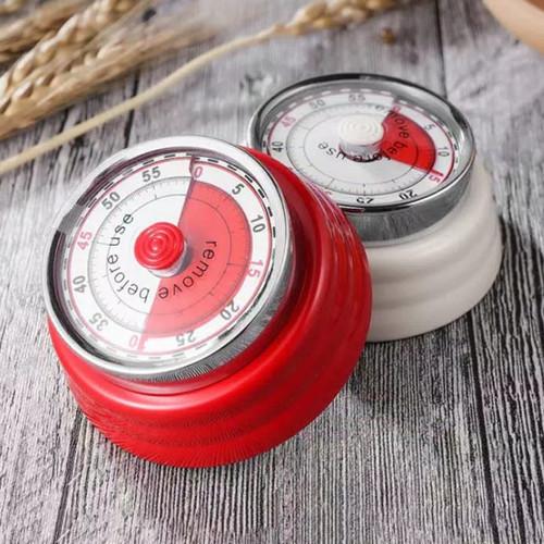 Foto Produk Timer Mekanik Magnetic Dapur Tempel Merah Alarm Masak dari YULIWARA Olshop