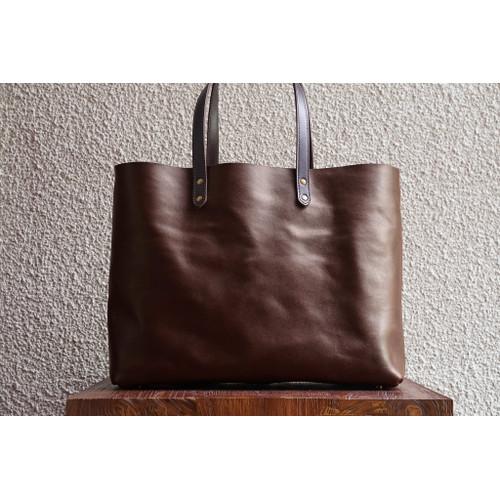 Foto Produk Leather Wide Tote Fox dari letsdothis