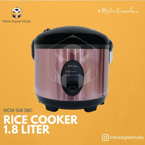 Foto Produk Miyako MCM 508 SBC Rice Cooker 1.8 Liter Stainless dari Mitra Digital Mulia