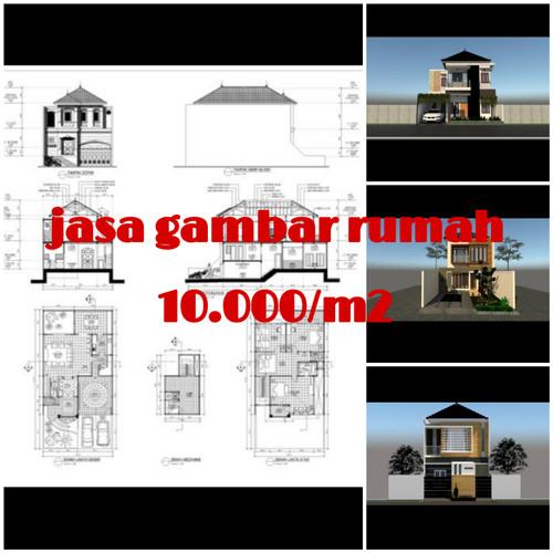 Jual Jasa Desain Rumah Autocad Imb Kab Kendal Zulfastore20 Tokopedia