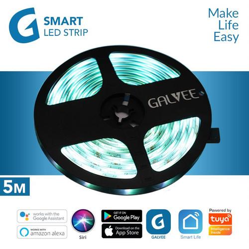 Foto Produk GALVEE Smart Led Strip Extension RGB 5M 5 Meter Wifi For Automation dari Galvee Official Store