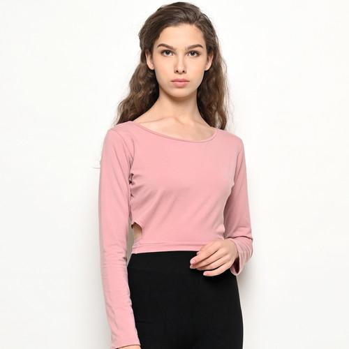 Foto Produk Baju Olahraga Panjang, Fitflo Activewear, Tencel, Elena Crop Pink - L dari Fitflo activewear