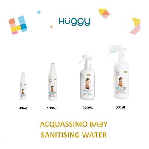 Foto Produk Acquassimo Sanitising Water 40ml 100ml 300ml 500ml Pembersih Bayi - 100ml dari Huggy Baby