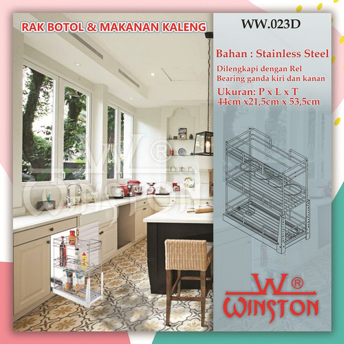 Foto Produk Rak Piring Rak Botol Stainless Winston WW 023D for Kitchen Cabinet dari WINSTON SUKSES ABADI