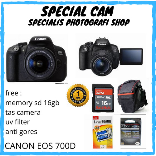 Foto Produk CAMERA CANON EOS 700D KIT 18-55MM / CANON EOS 700D KIT 18-55MM / 700D dari specialcam