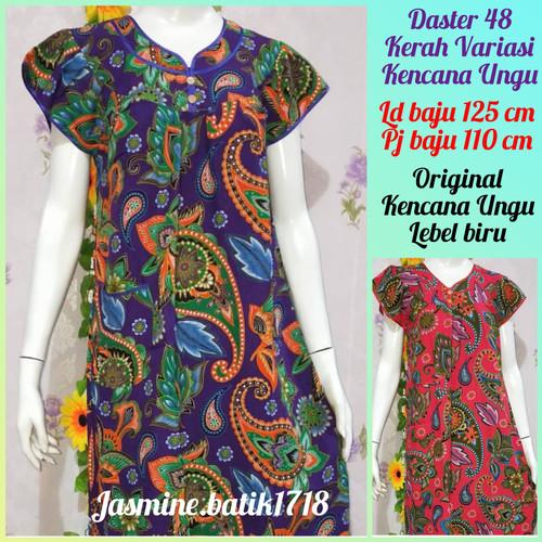 Foto Produk DASTER PENDEK 48 KENCANA UNGU KUB dari jasmine.batik1718