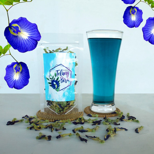 Foto Produk Bunga Telang Biru Kering 10 Gram dari RESTU BUMI PERTIWI